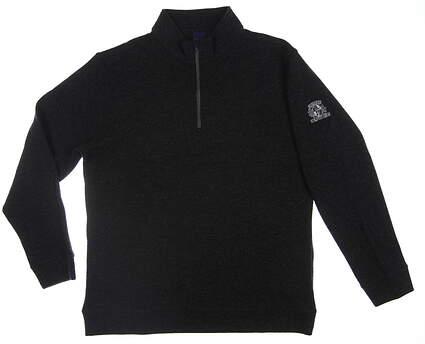 New W/ Logo Mens Dunning 1/4 Zip Sweater X-Large XL Dark Gray