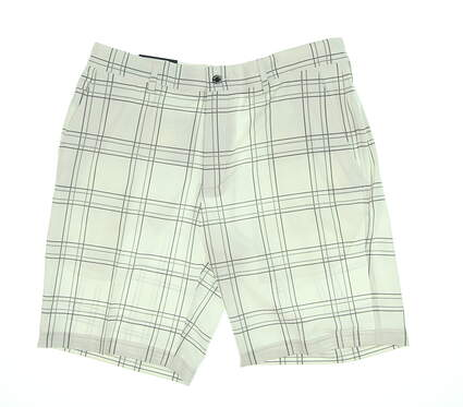 New Mens Dunning Golf Shorts 34 White Plaid DN800180 MSRP $85