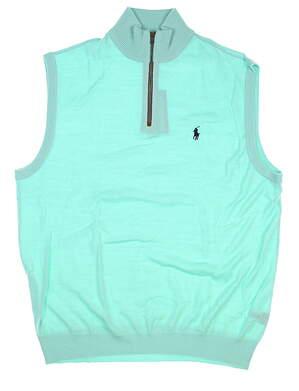 New Mens Ralph Lauren Golf Sweater Vest Large L Mint MSRP $135