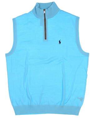 New Mens Ralph Lauren Golf Sweater Vest Medium M Blue MSRP $135