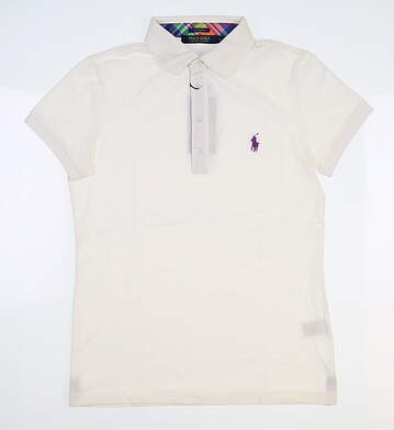 New Womens Ralph Lauren Golf Polo Small S White MSRP $85