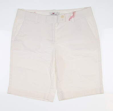 New Womens Vineyard Vines Golf Shorts 4 White MSRP $88
