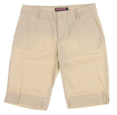 New Womens Vineyard Vines Golf Shorts 10 Sand MSRP $88