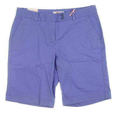 New Womens Vineyard Vines Golf Shorts 10 Blue MSRP $88