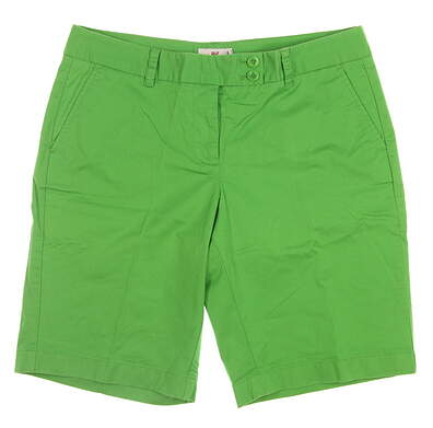 New Womens Vineyard Vines Golf Shorts 10 Green MSRP $88