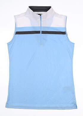 New Womens Footjoy Sleeveless Golf Polo Small S Blue MSRP $72
