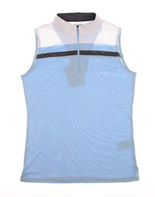 New Womens Footjoy Sleeveless Golf Polo Medium M Blue MSRP $72