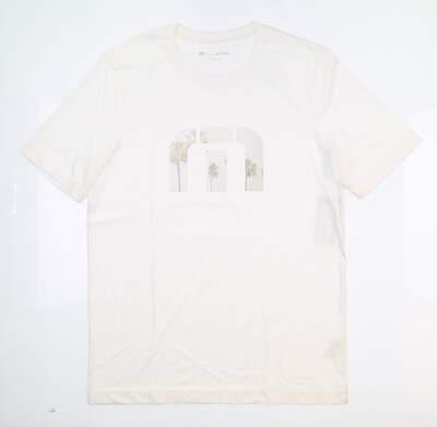 New Womens Travis Mathew Golf T-Shirt Small S White MSRP $35