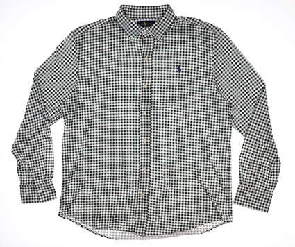 New Mens Ralph Lauren Button Up XX-Large XXL Green/White Multi Gingham MSRP $124.99 781609335001