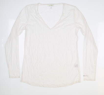New Womens Jamie Sadock Long Sleeve Large L White 61127 MSRP $60
