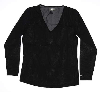 New Womens Jamie Sadock Long Sleeve X-Large XL Black 61127 MSRP $60