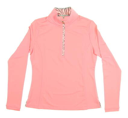 New Womens Fairway & Greene Golf Long Sleeve Polo Small S Pink MSRP $105 E32226
