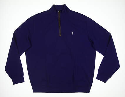 New Ralph Lauren Mens Golf 1/2 Zip Pullover Large L Purple MSRP $110