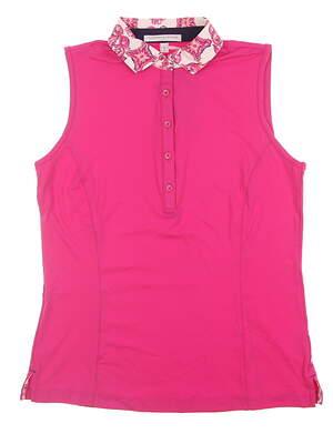 New Womens Fairway & Greene Sleeveless Golf Polo Small S Pink H12220 MSRP $80