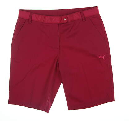 New Womens Puma Golf Shorts 12 Magenta 567052 MSRP $65