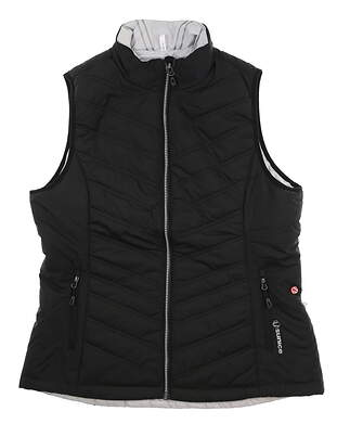 New Womens SUNICE Golf Vest Large L Black/Oyster Reversible S64506 MSRP$115