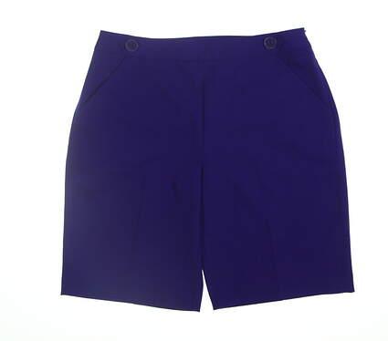 New Womens EP Pro Golf Shorts 8 Purple 8410ZA MSRP $68