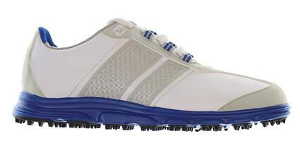 New Junior Golf Shoe Footjoy Boys Medium 3 White/Blue MSRP $65
