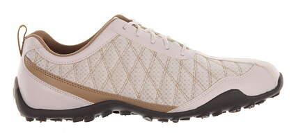 New Womens Golf Shoe Footjoy Summer Series Medium 9 White/Brown MSRP $140