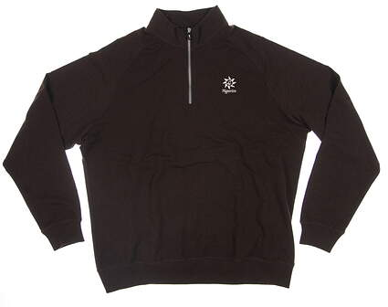 New W/ Logo Mens Fairway & Greene 1/4 Zip Golf Sweater XX-Large XXL Brown E31520 MSRP $100