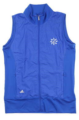 New W/ Logo Womens Adidas Golf Vest Small S Blue BC4047 MSRP $80