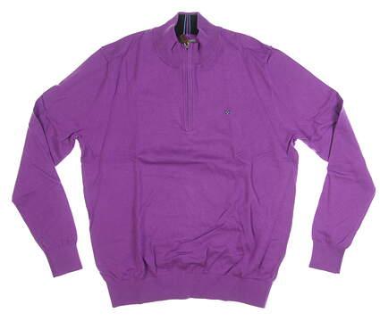 New Mens Fennec 1/4 Zip Golf Sweater Medium M Purple MSRP $125 182F367