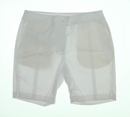 New Womens EP Pro 18in Short W/Seam Det Shorts 6 White NS8000 MSRP $88.99
