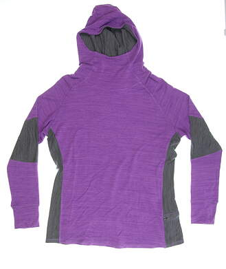 New Womens Footjoy French Terry Cowl Neck Sweatshirt X-Large XL Grape/Charcoal Heather MSRP $115 27293