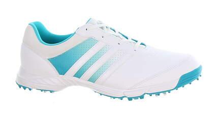 New Womens Golf Shoe Adidas Tech Response Medium 5.5 White/Blue MSRP $60