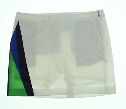 New Womens Ralph Lauren Golf Skort Size 12 White/Blue/Green MSRP $145