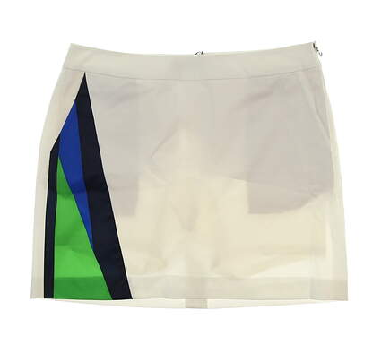 New Womens Ralph Lauren Golf Skort Size 8 White/Blue/Green MSRP $145