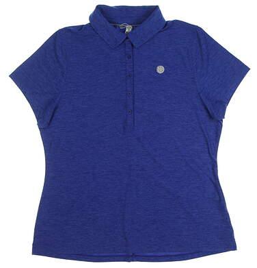 New W/ Logo Womens Under Armour Golf Polo X-Large XL Blue MSRP $55 UW2336
