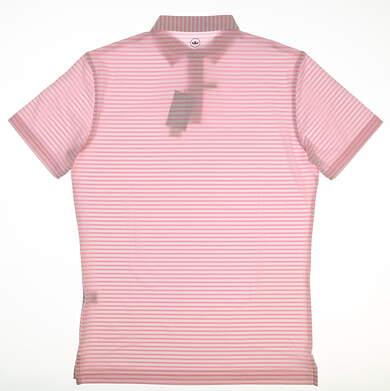 New Mens Peter Millar Golf Polo Small S Pink MSRP $89 MF18EK201STO