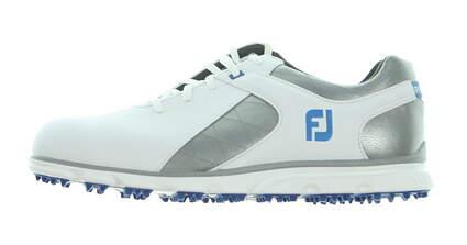New Mens Golf Shoe Footjoy Pro SL Medium 9 White/Grey MSRP $160
