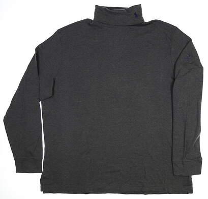 New W/ Logo Mens Ralph Lauren Long Sleeve T-Neck XX-Large XXL Gray MSRP $85