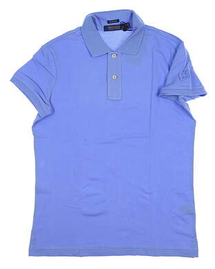 New W/ Logo Womens Ralph Lauren Classic Fit Polo Medium M Blue MSRP $90