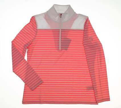 New W/ Logo Womens Footjoy 1/2 Zip Pullover Large L Pink MSRP $113 27540