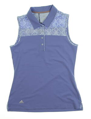 New Womens Adidas Merch Sleeveless Golf Polo X-Small XS Blue MSRP $74 CD4034