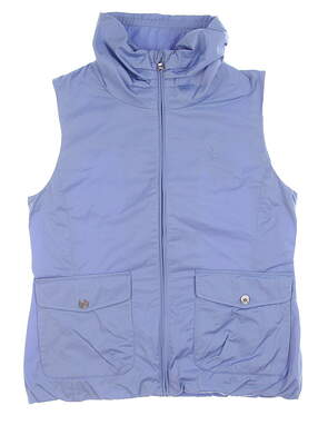 Brand New 10.0 Womens Ralph Lauren Vest Small S Chatham Blue MSRP $130