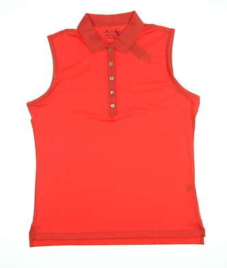 New Mens Peter Millar Sleeveless Polo X-Large XL Orange MSRP $89 LS18EK02