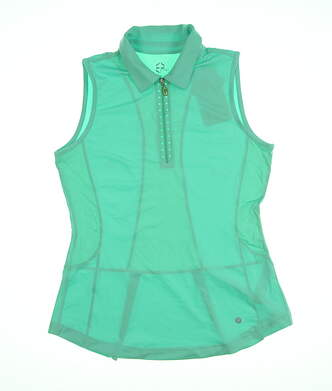 New Womens EP Pro Sleeveless Golf Polo Small S Green MSRP $70 3185SBA