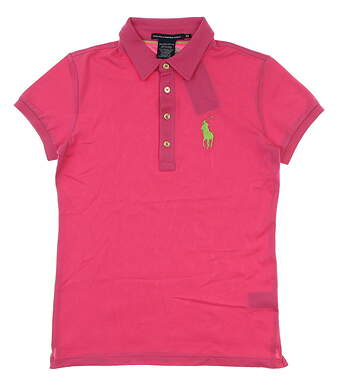 New Womens Ralph Lauren Tailored Golf fit Polo X-Small XS Pink MSRP $95 0476371