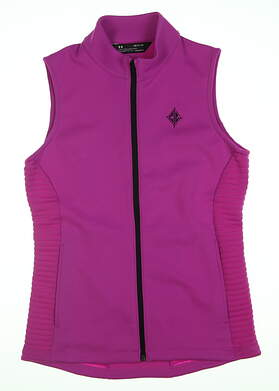 New W/ Logo Womens Under Armour Golf Vest Small S Pink MSRP $89 UW1281