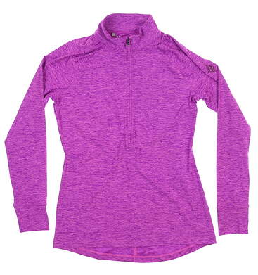 New W/ Logo Womens Under Armour 1/2 Zip Pullover Small S Purple MSRP $84 UW2350