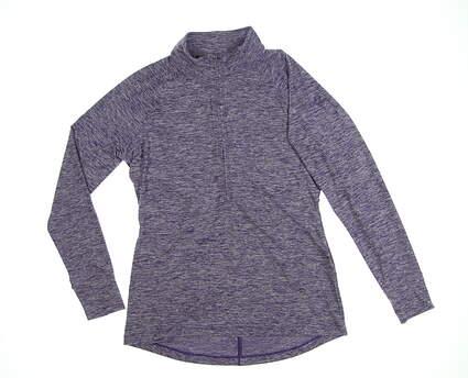 New W/ Logo Womens Under Armour 1/2 Zip Pullover Medium M Purple MSRP $84 UW2350
