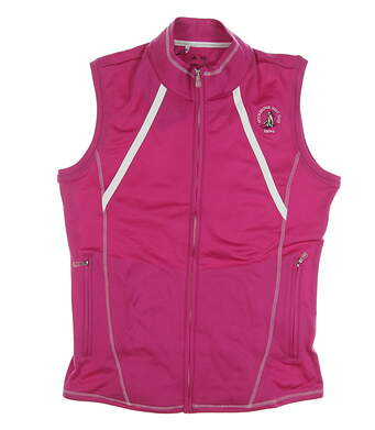 New W/ Logo Womens Adidas Golf Vest Small S Pink MSRP $70 Z83794