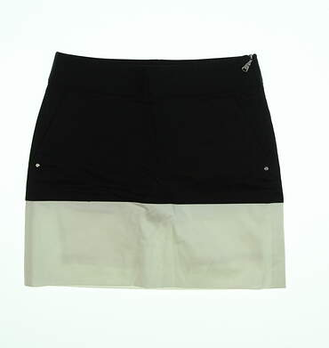 New Womens Ralph Lauren Golf Skort Size 0 Black/ White MSRP $125 3865684