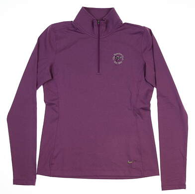 New W/ Logo Womens Nike Golf Pullover Small S Purple MSRP $79 585856