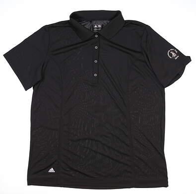 New W/ Logo Womens Adidas Polo XX-Large XXL Black MSRP $75
