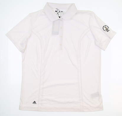 New W/ Logo Womens Adidas Golf Polo X-Large XL White MSRP $75